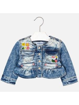 Піджак, джинсовий (вишиті квіти), Синій, Mayoral Іспанія, 19VL