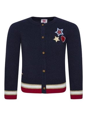 Кофта, золотиста зірка, червоне серце, Темно-синій, TucTuc Іспанія, 20OZ