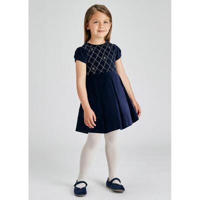 Сукня, короткий рукав, Темно-синій, Mayoral Іспанія, 22OZ