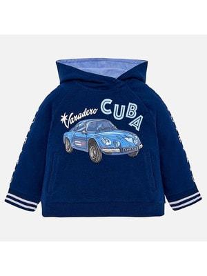 Пуловер, з капюшоном, Темно-синій, Mayoral Іспанія, 19VL