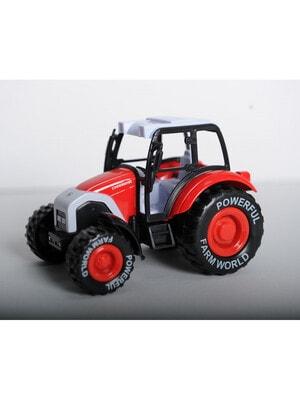 ИГРУШКА Машина трактор инерционный из пластика и металла (красный / зеленый), Joy-Toy КНР