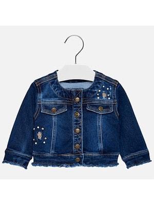 Піджак, джинсовий, Темно-синій, Mayoral Іспанія, 19OZ