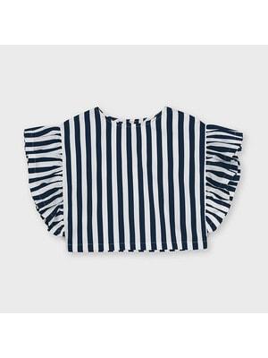 Блуза, в білу смугу, Темно-синій, Mayoral Іспанія, 21VL