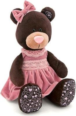 Іграшка М'яка, Ведмедик  Milk в рожевій сукні  (сидячий),25см, ORANGE Китай