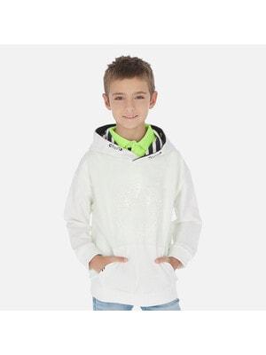 Пуловер, з капюшоном, Білий, Mayoral Іспанія, 20VL