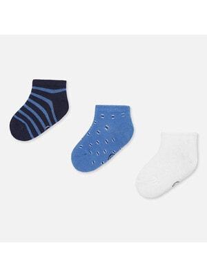 Шкарпетки, 3 пари (1 - білі), Синій, Mayoral Іспанія, 20VL