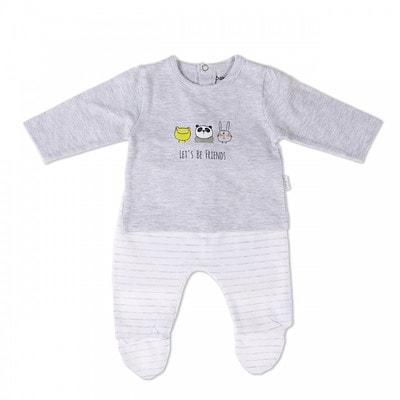 Комплект, Джемпер + штани білі в сіру смугу, Сірий, Babybol Іспанія, 19VL