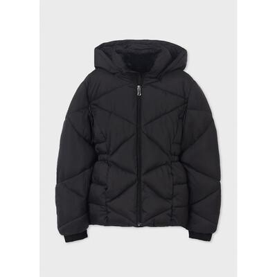 Куртка, з капюшоном, еврозима, Чорний, Mayoral Іспанія, 22OZ