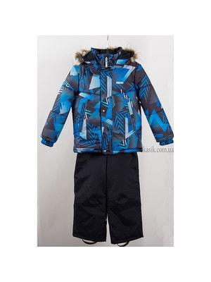 Комплект, Куртка  (синя абстракція) + напівкомбінезон ROBIS, Темно-синій, Lenne Естонія, 20OZ