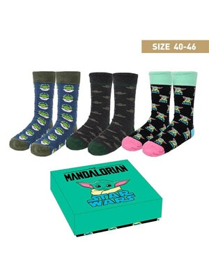 Шкарпетки, 3 пари STAR WARS у подарунковій коробці,  Cerda, Чорний, Disney Іспанія, 21OZ