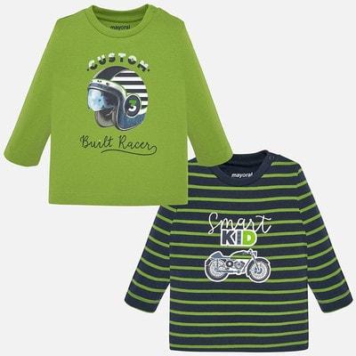 Комплект, Джемпер 1 Темно-синя в зелену смугу 2, Зелений, Mayoral Іспанія, 20OZ