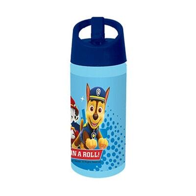 """Пляшка для пиття (червона кришка)  """"PAW PATROL """", 350мл, Синій, Disney Польща"""