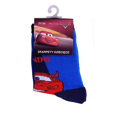 Шкарпетки, Cars, з темно-синьою окантовкою, Синій, Disney Польща, 21OZ