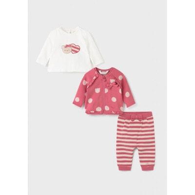Комплект, Кофта +джемпер + штани, Рожевий, Mayoral Іспанія, 22OZ