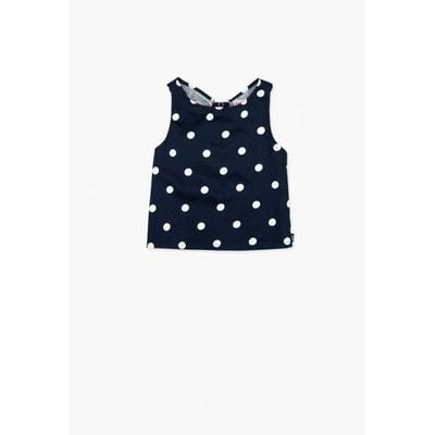 Блуза, в білий горошок та смугу, Темно-синій, BOBOLI Іспанія, 19VL